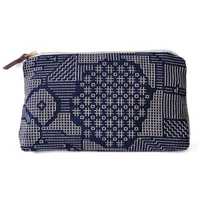 画像1: 十布(テンプ) /  福島の刺子織ポーチ・ネイビー