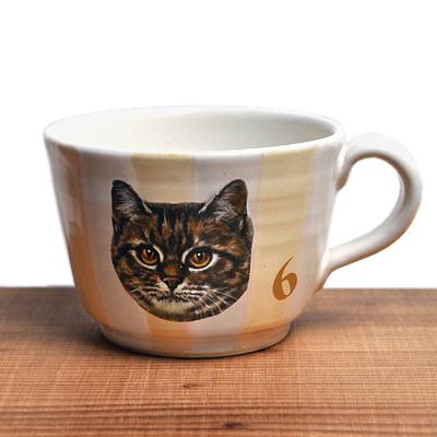 画像1: Ikumi Hiruma(比留間 郁美)/ 猫マグカップ(トラ)