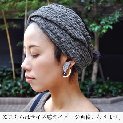 画像4: KINARIYA(キナリヤ)/ ピアス(Half Circle・embroidery )ゴールド
