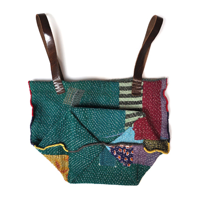 画像3: vintage kantha ralli quilt bag / ヴィンテージカンタ ラリーキルトバッグ( L )