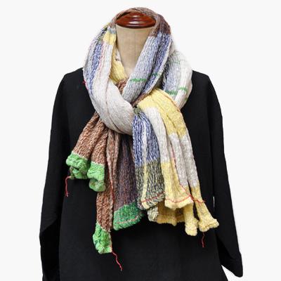 画像2: tamaki niime(玉木新雌)/ only one shawl cotton(オンリーワンショール:コットン)・big(大判サイズ)