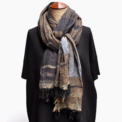 画像2: tamaki niime(玉木新雌) / roots shawl cotton(ルーツショール:コットン)ビッグ(大判サイズ)
