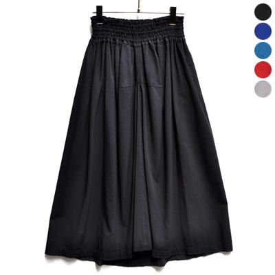 画像2: 【 ブラック再入荷 】FACTORY(ファクトリー)/ バンブーコットン ギャザースカート