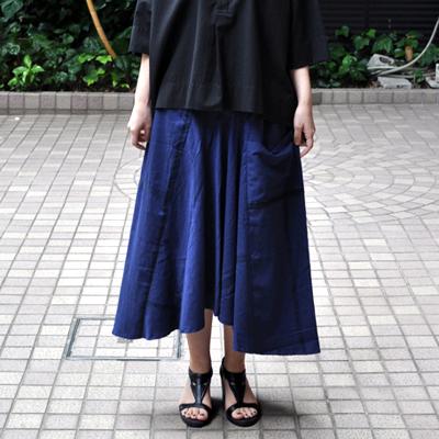 画像2: tamaki niime(玉木新雌) /  chotan skirt : cotton( チョタンスカート:コットン)ネイビー