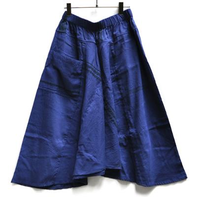 画像1: tamaki niime(玉木新雌) /  chotan skirt : cotton( チョタンスカート:コットン)ネイビー