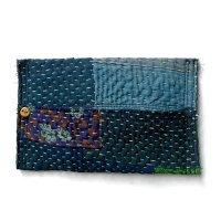 vintage kantha Pocket tissue cover / ヴィンテージカンタ ポケットティッシュカバー(藍染)