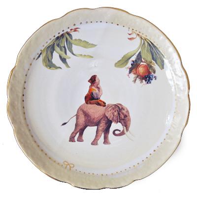 画像2: Ikumi Hiruma(比留間 郁美)/ Circus Plate (Elephant)φ21cm