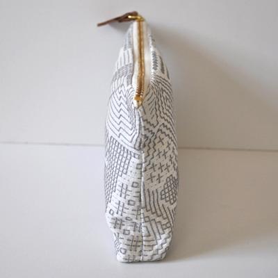 画像3: 十布(テンプ) /  福島の刺子織ポーチ・オフホワイト