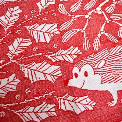 画像2: LAPUAN KANKURIT(ラプアン カンクリ) /  【 冬期限定デザイン 】ウォッシュドリネン キッチンタオル(SILLI・レッド)