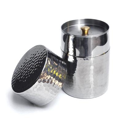 画像2: 工房アイザワ / Black Piment ステンレス ティーキャディー(茶筒)