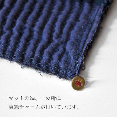 画像2: ヴィンテージカンタ 刺し子ランチョンマット(藍染)