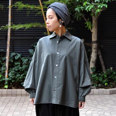 画像5: 【 SALE 】¥19,000→¥15,800 / FACTORY(ファクトリー)/ ペルー綿 タックスリーブワイドシャツ