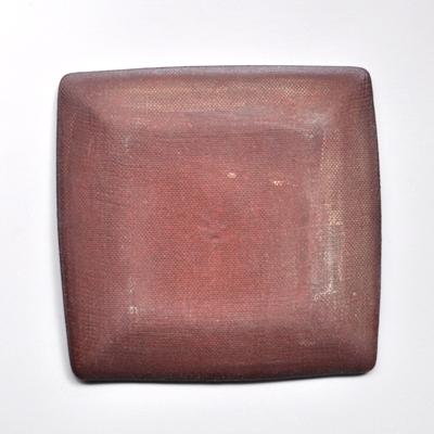 画像2: 一翠窯 / たたら正方皿 いっちん格子(大)・トルコブルー