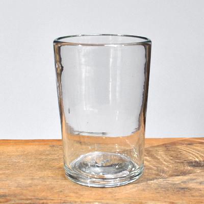 画像1: 奥原硝子製造所(琉球ガラス) / 4半コップ・クリア