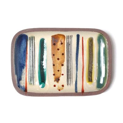 画像2: 一翠窯 / たたら長方皿(小)・ストライプ