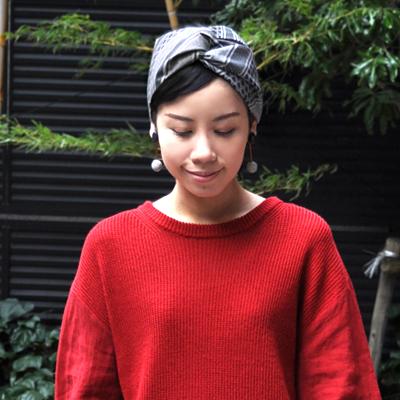 画像2: KINARIYA(キナリヤ)/ ヘアバンド(ストライプ・グレー)