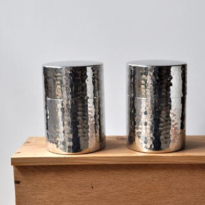 画像1: 工房アイザワ / Black Piment ステンレス ティーキャディー(茶筒)
