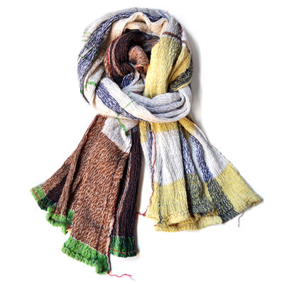画像1: tamaki niime(玉木新雌)/ only one shawl cotton(オンリーワンショール:コットン)・big(大判サイズ)