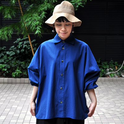 画像2: 【 SALE 】¥19,000→¥15,800 / FACTORY(ファクトリー)/ ペルー綿 タックスリーブワイドシャツ