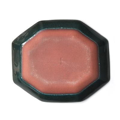 画像3: 【 再入荷 】雅峰窯 / しのぎ八角皿(トルコブルー)