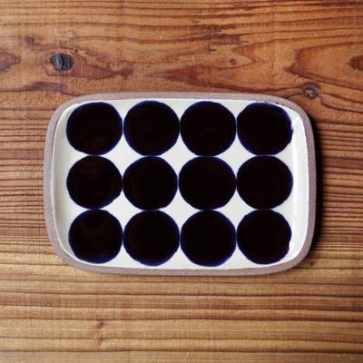 画像1: 一翠窯 / たたら長方皿(小)・呉須丸