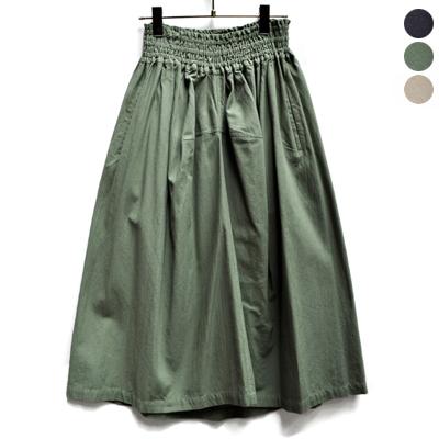 画像1: 【 SALE 】¥15,000→¥13,500 / FACTORY(ファクトリー)/   綿40/2 ギャザースカート