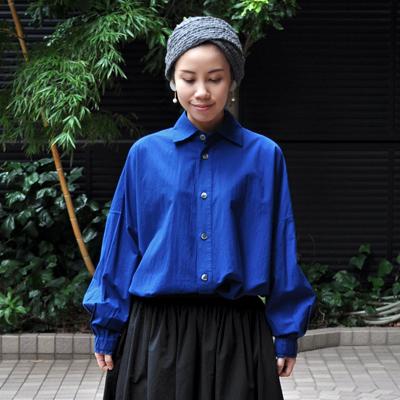 画像4: 【 SALE 】¥19,000→¥15,800 / FACTORY(ファクトリー)/ ペルー綿 タックスリーブワイドシャツ