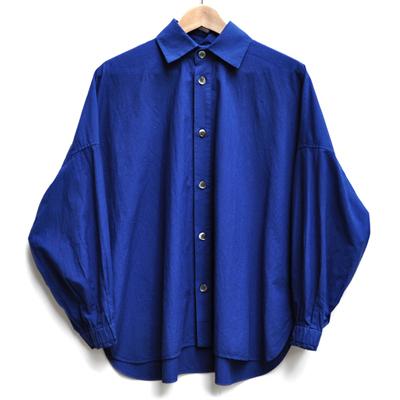 画像1: 【 SALE 】¥19,000→¥15,800 / FACTORY(ファクトリー)/ ペルー綿 タックスリーブワイドシャツ