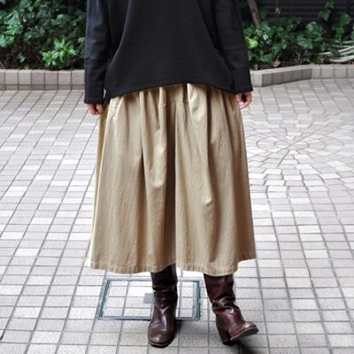 画像1: FACTORY(ファクトリー)/   綿40/2 ギャザースカート