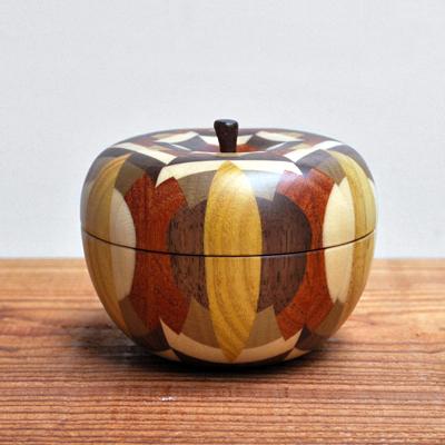画像1: 金指勝悦 / リンゴの小物入れ( L )