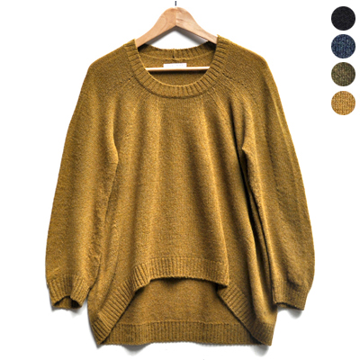 画像1: 【 SALE 】¥19,000→¥15,200 / FACTORY(ファクトリー)/ キャメル100% 裾カーブセーター