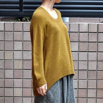 画像3: 【 SALE 30%OFF】¥19,000→¥13,300 / FACTORY(ファクトリー)/ キャメル100% 裾カーブセーター