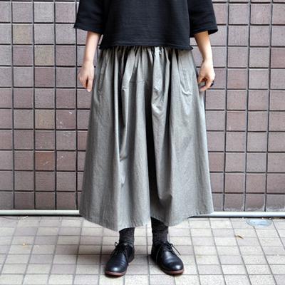 画像2: 【 2018SS 】FACTORY(ファクトリー)/ 千鳥格子 ギャザースカート(ペルーコットン)