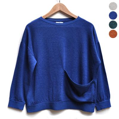画像1: 【 SALE 】¥17,000→¥13,600 / FACTORY(ファクトリー)/ コットンリネン ワイドポケットセーター