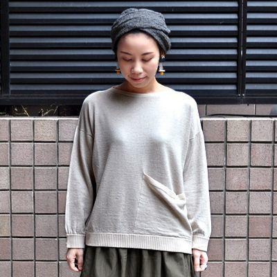 画像3: 【 2018SS 】FACTORY(ファクトリー)/ コットンリネン ワイドポケットセーター