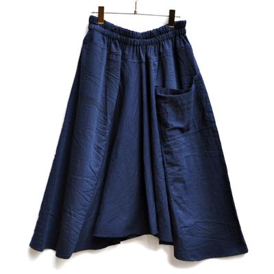 画像1: 【暦シリーズ / 弥生】tamaki niime(玉木新雌) /  chotan skirt : cotton( チョタンスカート:コットン)【 限定カラー / ディープネイビー】