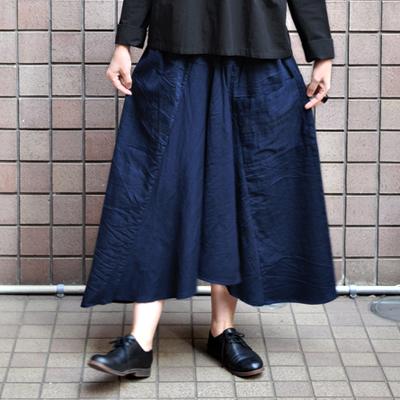 画像3: 【暦シリーズ / 弥生】tamaki niime(玉木新雌) /  chotan skirt : cotton( チョタンスカート:コットン)【 限定カラー / ディープネイビー】