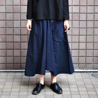 画像2: 【暦シリーズ / 弥生】tamaki niime(玉木新雌) /  chotan skirt : cotton( チョタンスカート:コットン)【 限定カラー / ディープネイビー】