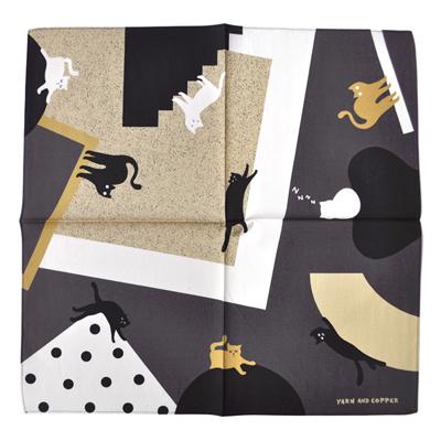 画像1: YARN & COPPER(ヤーン&コッパー)/ acrocats handkerchief( ハンカチ / オーガニックコットン100% )