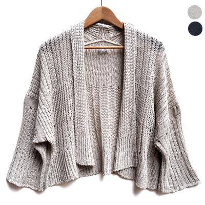 画像2: 【 2018SS 】FACTORY(ファクトリー)/ 綿×麻×和紙  ローゲージ ショート丈ニットジャケット
