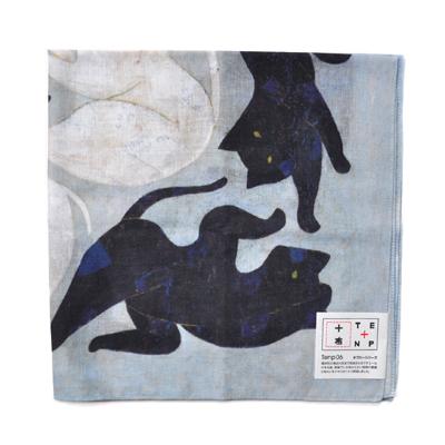 画像3: 十布(テンプ) /  タブローシリーズ ハンカチ:黒猫 白猫
