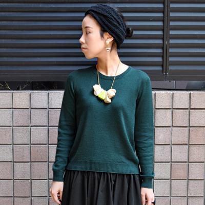 画像2: 【 2018SS 】FACTORY(ファクトリー)/ コットンリネン  クルーネックセーター(長袖)