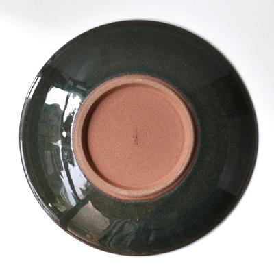 画像4: 雅峰窯 / しのぎ平丸皿・7寸(トルコブルー)