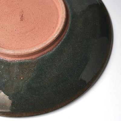 画像5: 雅峰窯 / しのぎ平丸皿・7寸(トルコブルー)