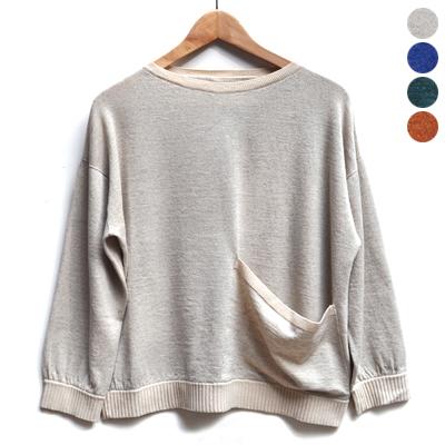 画像1: 【 2018SS 】FACTORY(ファクトリー)/ コットンリネン ワイドポケットセーター