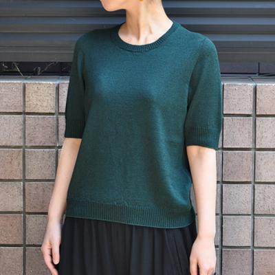 画像3: 【 2018SS 】FACTORY(ファクトリー)/ コットンリネン  クルーネックセーター(5分袖)※サイズ3有り