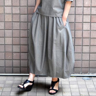 画像3: 【 SALE 】¥19,000→¥15,200 / FACTORY(ファクトリー)/ 千鳥格子 バルーンスカート(ペルーコットン)