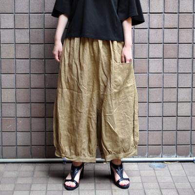 画像1: 【 SALE 】¥8,900→¥6,230 / ICHI(イチ )/ リネン 前ポケット バルーンワイドパンツ