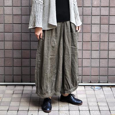 画像4: 【 SALE 】¥8,900→¥6,230 / ICHI(イチ )/ リネン 前ポケット バルーンワイドパンツ