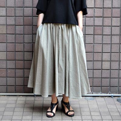 画像3: 【 2018SS 】FACTORY(ファクトリー)/ コットンリネン ストライプ サーキュラーギャザースカート